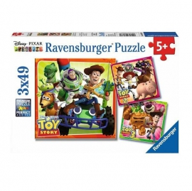 Toy Story Puzzle 3x49 db-os puzzle - Ravensburger