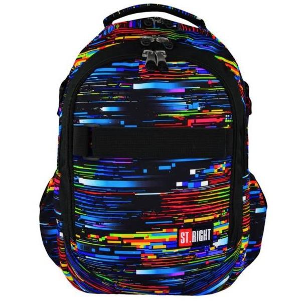 84eda43aeee2 St. Right iskolatáska hátizsák 3 rekeszes Beta Stripes - Gigajáték