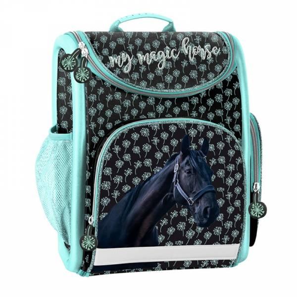 dee2c8c8b9f0 Paso lovas ergonomikus merevfalú iskolatáska - fekete-menta - Gigajáték