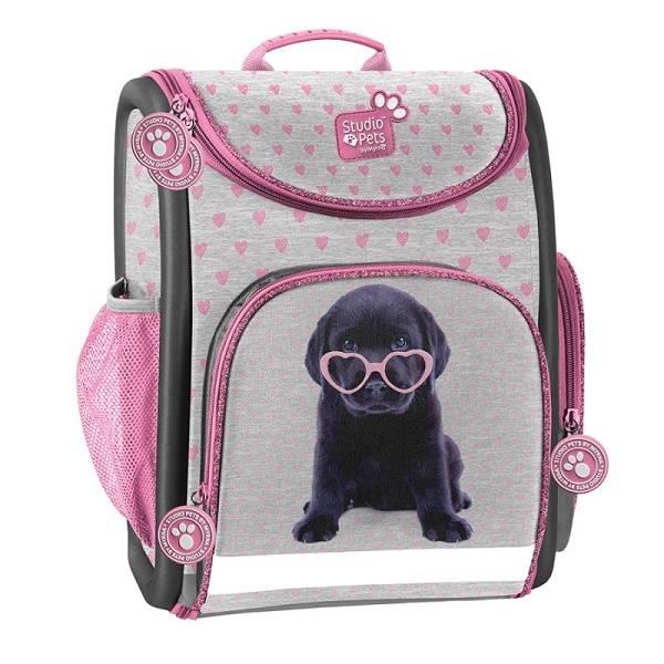 04b863bca076 Studio Pets kutyás ergonomikus iskolatáska rózsaszín szívecskés ...