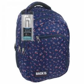 10a07c2dc081 BackUp ergonomikus iskolatáska, hátizsák fülhallgatóval - apró virágos