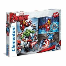 Avengers puzzle 3 x 48 darabos Supercolor