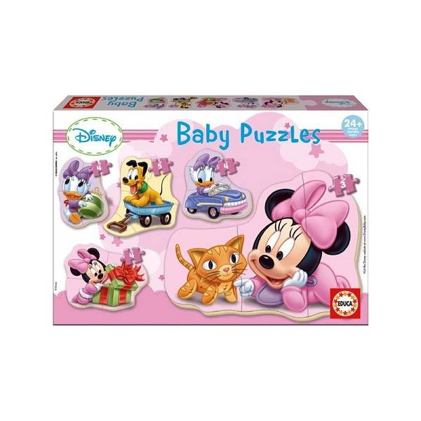 Disney baby Minnie puzzle 5 in 1 Educa