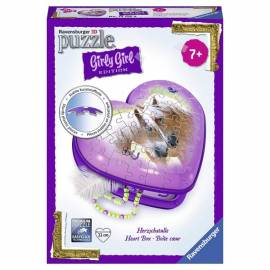Lovas dobozka - Girly Girl Edition 3D puzzle 54 db-os