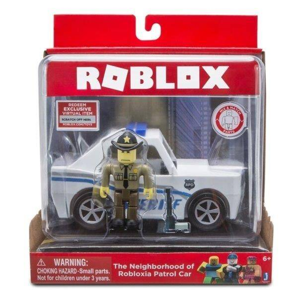 Roblox figura szett járművel - The Neighborhood of Robloxia Patrol Car