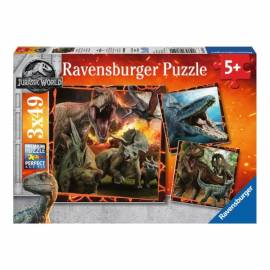 Ravensburger Jurassic World puzzle 3x49 db-os