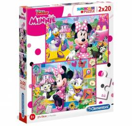Minnie puzzle 2x20 db-os Supercolor - Minnie boldog pillanatai