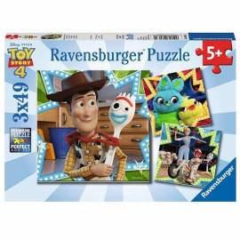 Toy Story 4 puzzle 3x49 db-os puzzle - Ravensburger