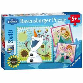 Jégvarázs puzzle 3x49 db Ravensburger - Party láz