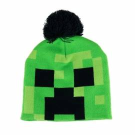 Minecraft sapka pomponos - Creeper